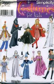 Halloween Costume Patterns Enchanting Amazon Simplicity 48 Costume Pattern Children Clown Witch