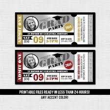 Party Ticket Invitations Mesmerizing GRADUATION PARTY TICKET Invitations Class Of 48 48 Etsy