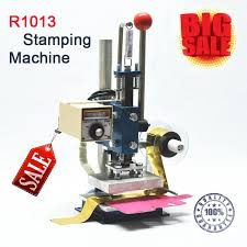 2019 r1013 manual stamping machine leather printer creasing machine hot foil stamping machine marking press embossing machine10 13cm from betterpak