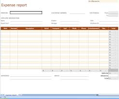 Blank Expense Report Form 006 Expense Report Template Free Basic Monthly With Blank