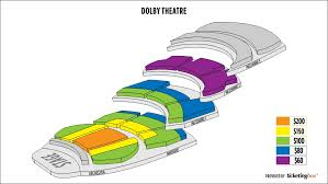 Nokia Theater Seating Chart Video Hollywood Dolby Theatre Seating Chart