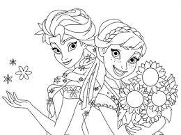Elsa En Anna Kleurplaat Kleurplaat Anna En Elsa