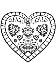 Small Picture Decorated Heart coloring page Free Printable Coloring Pages