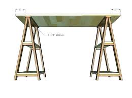 saw horse legs sawhorse table desk within decorating glass with chrome
