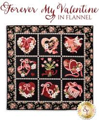 Flannel Quilt Patterns Custom Forever My Valentine In Flannel Quilt Pattern