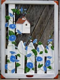 Ideas For Old Windows Panes Of Art Hand Painted Windows Window Art Decorative Window
