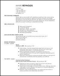 Free Entry Level Restaurant Resume Templates Resumenow