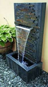 frp brown indoor water fountain orchid