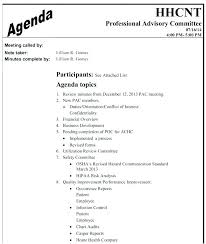 Agenda Formats New Safety Committee Meeting Agenda Template Safety Meeting Minutes