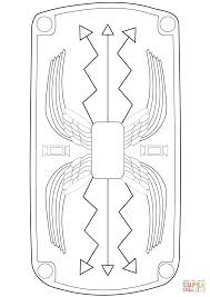 Roman Shield Coloring Page Free Printable Coloring Pages