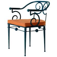 french art deco wrought iron chair in the style of poillerat circa 1930s for