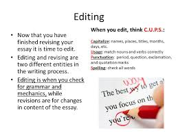 the writing process types of essays the writing process the  7 editing