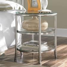 metal and glass nightstand