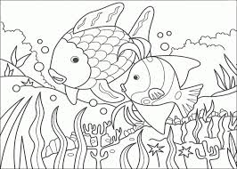 printable rainbow fish coloring sheets for kids 6dco2