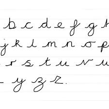 Lowercase Cursive Alphabet Worksheet Cursive Letters Print Upper And Lowercase Cursive Letters Printable