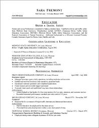 change of career resume