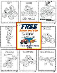 Blaze And The Monster Machine Coloring Pages Tonyshume