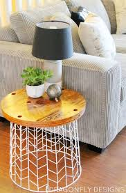 Furniture: Gold Dipped Side Tables - Tables