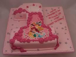Princess First Birthday Cake Disney Princesses 1st Birthday Cake1