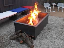 outdoor fire pit for wood deck
