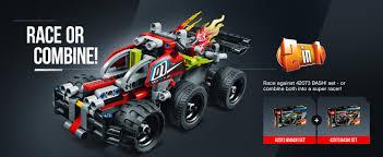 Pull Back Motor Design Construction Building Toys Lego Technic Impulse Racing Toy