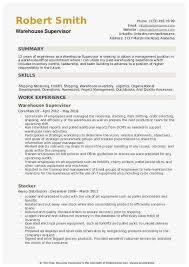 Sample Zoning Supervisor Resume 65 New Release Ideas Of Warehouse Resume Summary Best Of