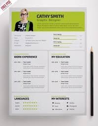 Designer Resume Template Free Psd Psdfreebies Com