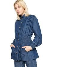 Light Blue Fitted Denim Jacket La Redoute Collections Womens Light Denim Jacket Blue Size