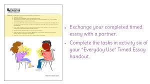 lesson revising and editing a timed essay on ldquo everyday use view resource copy resource id