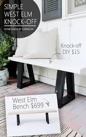outdoor furniture west elm. West Elm Bench Knock-off Outdoor Furniture W