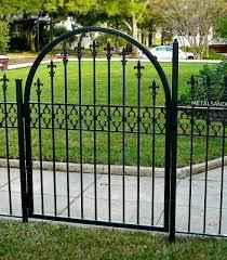 gothic fleur de lis iron gate