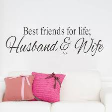 Small Picture Aliexpresscom Buy HusbandWife Best Friends quotes wall decal