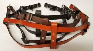 leather dog harness plain 0 75 inch wide dhp5002 3