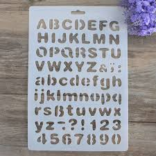 diy craft letter alphabet stencils for walls sbooking painting template stamps al decorative embossing paper cards
