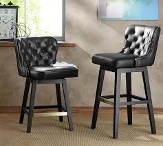 tufted swivel bar stools. Interesting Bar Caldwell Tufted Leather Swivel Bar Stool To Stools P