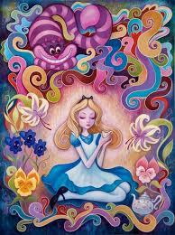 alice wonderland colorful art painting tea trippy fairy tale ilration alice wonderland