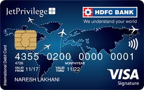hdfcbank jetprivilege hdfc bank signature debit card jetprivilege