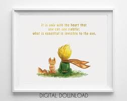 the little prince wall art watercolor poster nursery hanging