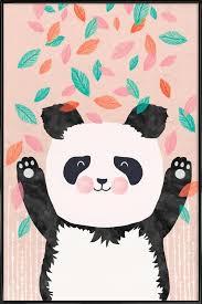 home wall art posters in standard frames on panda wall art uk with panda as poster in standard frame by treechild juniqe uk