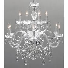 swarovski crystal lighting. Interesting Lighting Swarovski Elements Crystal Trimmed Chandelier Lighting With G