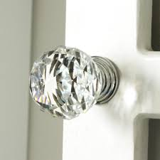 K9 Clear Crystal Knob Chrome Glitter knob kitchen cabinet knobs handles  dresser cupboard door handles home