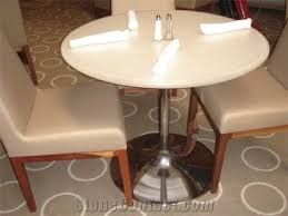 corian acrylic solid surface round dinning tables and chairs for room furniture artificial marble stone standing dining tables and chairs with facoty