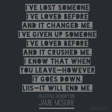 Beautiful Redemption Quotes Best Of BEAUTIFUL REDEMPTION Jamie Mcguire Books Quotes Pinterest