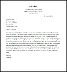 school cover letter professional school bus driver cover letter sample writing guide