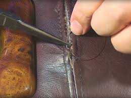 use a ladder stitch to repair a broken seam on your upholstered furniture