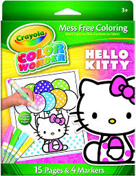 Just print out and have fun! Amazon Com Crayola Mess Free Color Wonder Hello Kitty Metallic Kit Toys Games