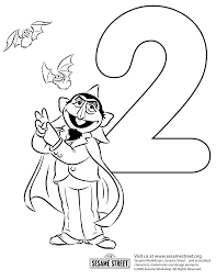 Small Picture The Count of Sesame Street Coloring Page Northern News