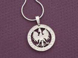 sterling silver polish eagle pendant