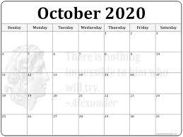 24 October 2020 Quote Calendars