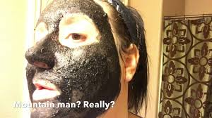 the no glue activated charcoal face mask l